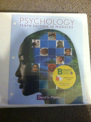 Psychology in Modules (Loose Leaf)  10th 2013 edition cover