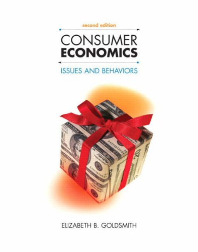 Consumer Economics Issues and Behaviors 2nd 2009 edition cover