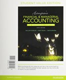 Horngren's Financial and Managerial Accounting, the Managerial Chapters, Student Value Edition  5th 2016 9780133851496 Front Cover