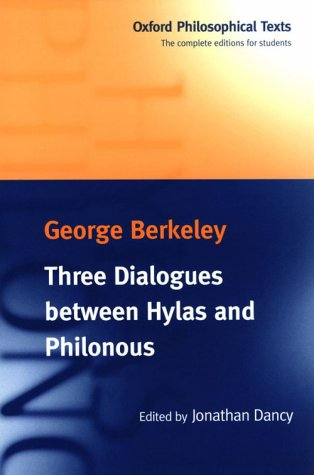 Three Dialogues Between Hylas and Philonous   1998 edition cover