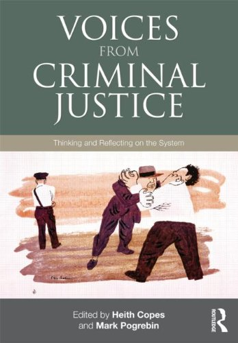 Voices from Criminal Justice Thinking and Reflecting on the System  2012 edition cover