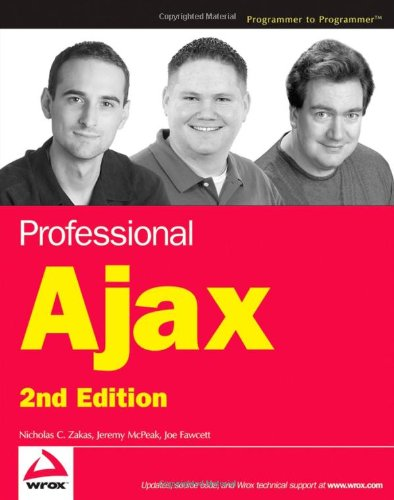 Professional Ajax  2nd 2007 (Revised) 9780470109496 Front Cover