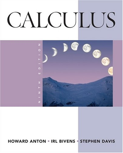 Calculus  9th 2009 edition cover