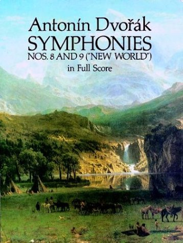 "Symphonies Nos. 8 and 9 (""New World"") in Full Score  N/A edition cover"