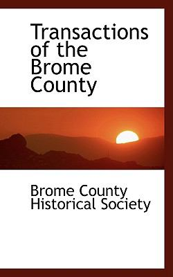 Transactions of the Brome County N/A edition cover
