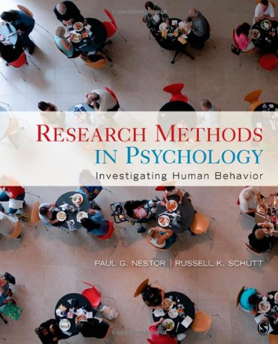 Research Methods in Psychology Investigating Human Behavior  2012 edition cover