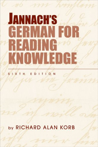Jannach's German for Reading Knowledge  6th 2009 (Revised) edition cover