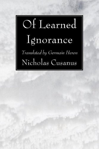 Of Learned Ignorance  N/A edition cover