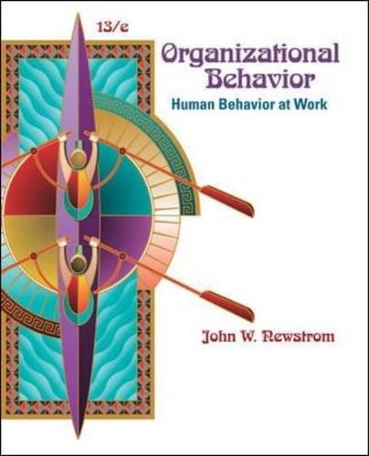 Organizational Behavior Human Behavior at Work 13th 2011 edition cover