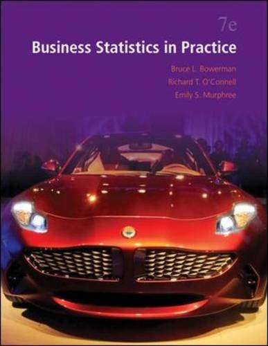 Business Statistics in Practice  7th 2014 9780073521497 Front Cover
