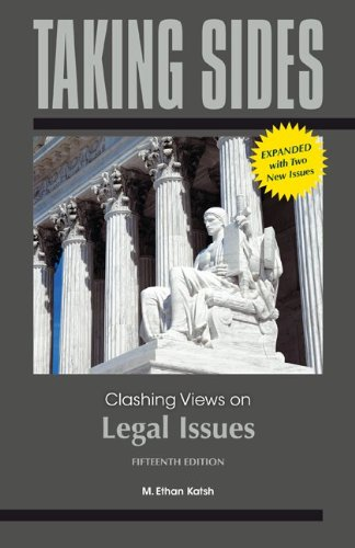 Taking Sides Clashing Views on Legal Issues 15th 2013 edition cover