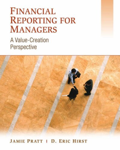 Financial Reporting for Managers A Value-Creation Perspective  2009 edition cover