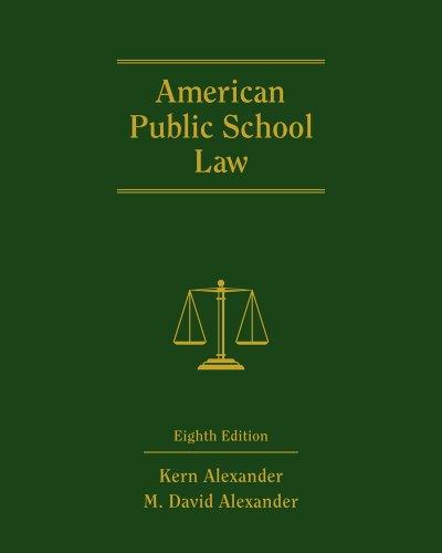 American Public School Law  8th 2012 edition cover