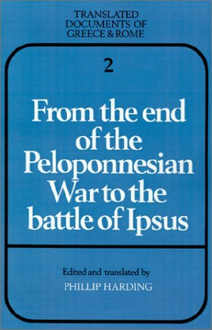 From the End of the Peloponnesian War to the Battle of Ipsus   1985 edition cover