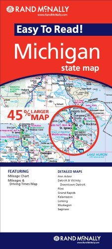 Map Michigan Easy to Read Mi   2009 9780528878497 Front Cover