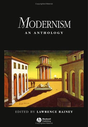 Modernism An Anthology  2005 edition cover
