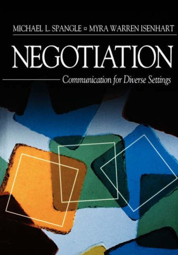 Negotiation Communication for Diverse Settings  2002 edition cover