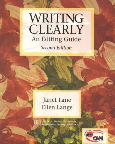 Writing Clearly Grammar for Editing 2nd 1999 edition cover