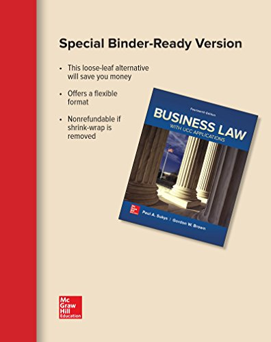 BUSINESS LAW W/UCC APPL. (LOOSE)        N/A 9781259737497 Front Cover