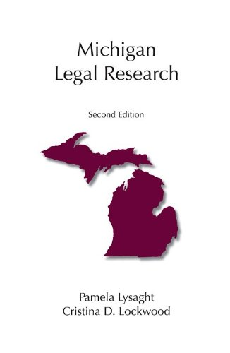 Michigan Legal Research 2nd 2011 edition cover