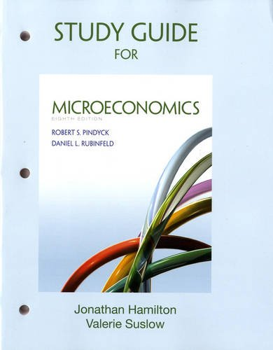 Study Guide for Microeconomics  8th 2013 (Revised) edition cover