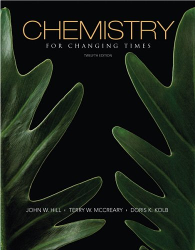 Chemistry for Changing Times  12th 2010 edition cover