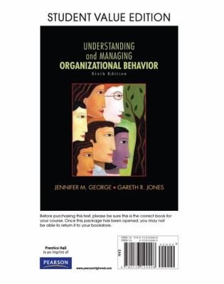 Understanding and Managing Organizational Behavior  6th 2012 (Revised) edition cover