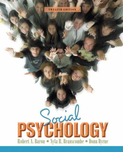 Social Psychology  12th 2009 edition cover