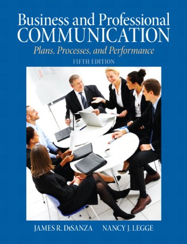 Business and Professional Communication Plans, Processes, and Performance 5th 2012 (Revised) edition cover