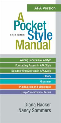 Pocket Style Manual, APA Version  6th edition cover