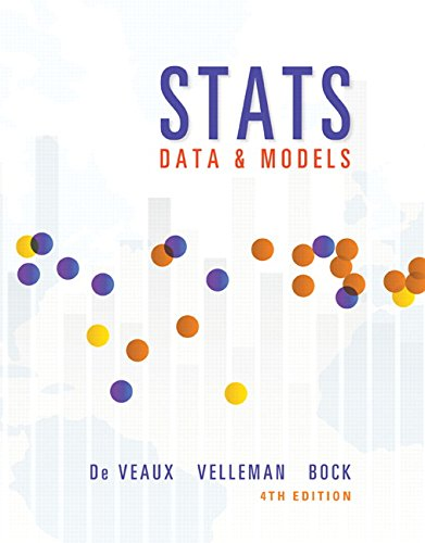 Stats Data and Models 4th 2016 9780321986498 Front Cover