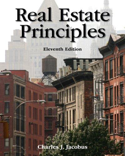 Real Estate Principles  11th 2009 edition cover