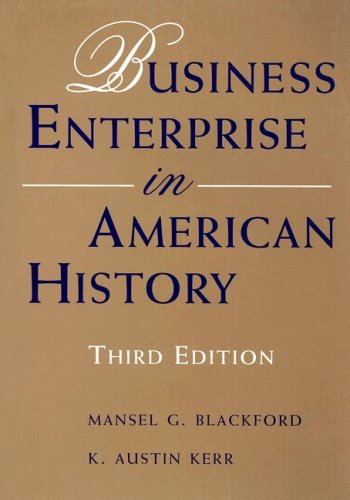 Business Enterprise in American History  3rd 1994 9780395668498 Front Cover