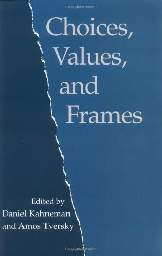 Choices, Values, and Frames   2000 edition cover
