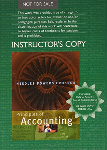 PRIN.OF ACCOUNTING >EXAM COPY< 10th 2008 9780618833498 Front Cover