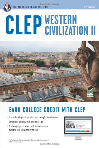 CLEP Western Civilization II W/Online Practice Tests:   2012 edition cover