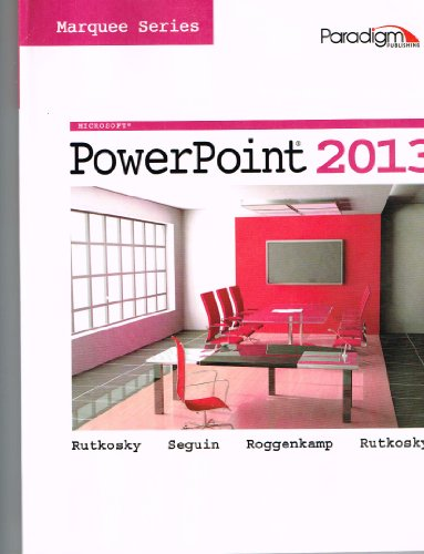 MICROSOFT POWERPOINT 2013:MARQ N/A 9780763852498 Front Cover