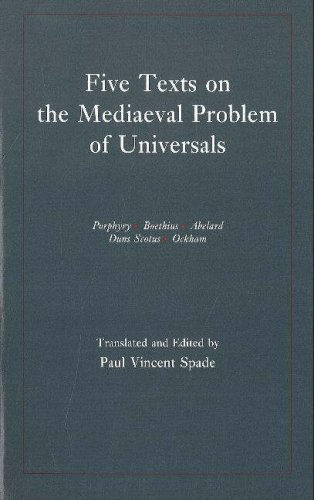 Five Texts on the Mediaeval Problem of Universals Porphyry, Boethius, Abelard, Duns Scotus, Ockham  1994 edition cover