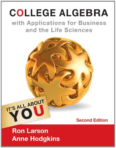 College Algebra with Applications for Business and Life Sciences  2nd 2013 edition cover