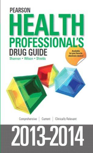 Pearson Health Professional's Drug Guide 2013-2014   2014 edition cover