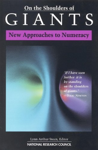 On the Shoulders of Giants New Approaches to Numeracy  1990 edition cover