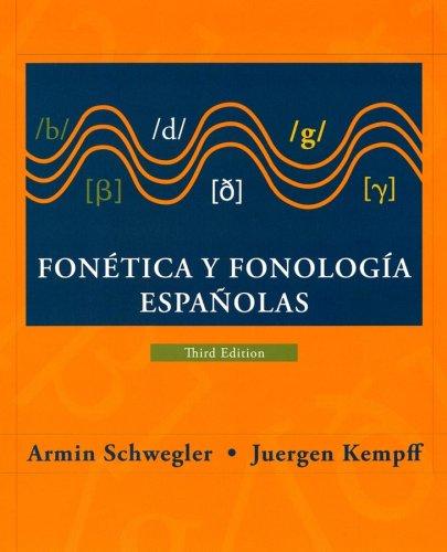 Fon�tica y fonolog�a Espa�olas  3rd 2007 (Revised) edition cover