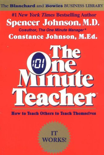 One Minute Teacher How to Teach Others to Teach Themselves 2nd (Reprint) edition cover