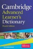 CAMBRIDGE ADVANCED LEARNER'S DICTIONARY 4TH EDITION  4th 2013 edition cover