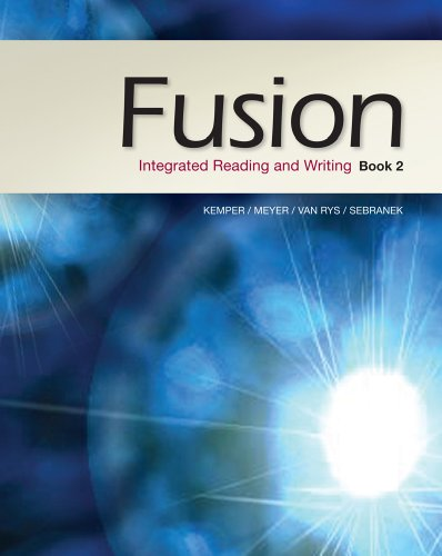 Fusion Integrated Reading and Writing  2013 edition cover