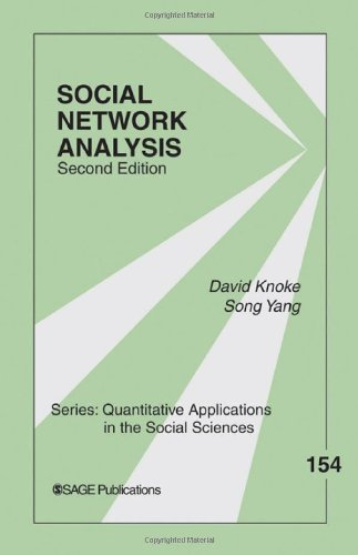Social Network Analysis  2nd 2008 9781412927499 Front Cover