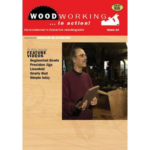 Woodworking in Action!: Segmented Bowls, Precision Jigs, Linenfold, Gnarly Burl, Simple Inlay  2012 edition cover