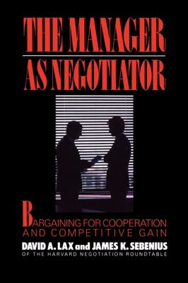 Manager as Negotiator  N/A edition cover
