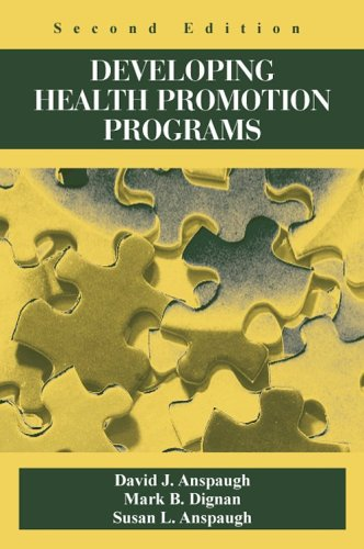 Developing Health Promotion Programs  2nd 2006 edition cover