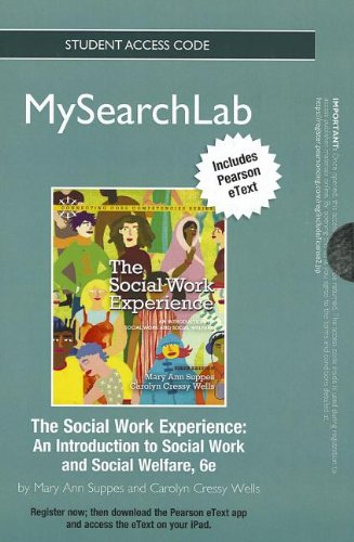 Social Work Experience An Introduction to Social and Social Welfare 6th 2013 (Revised) edition cover